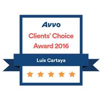 Avvo Clients Choice – Cartaya 2016