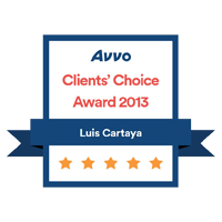 Avvo Clients Choice – Cartaya 2013